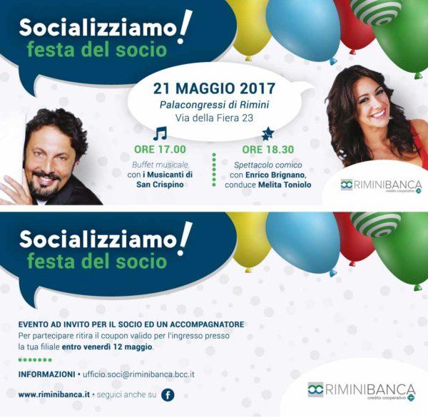 Immagine e strumenti di comunicazione per Evento Rimini Banca